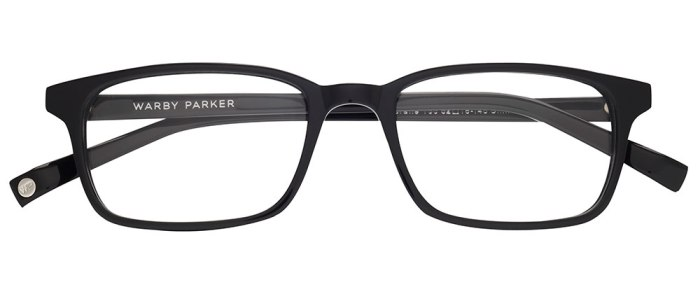 Crane in Revolver Black Glasses - Warby Parker